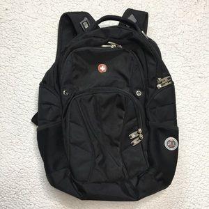 Swiss Gear - Black Multi Pocket Durable Backpack